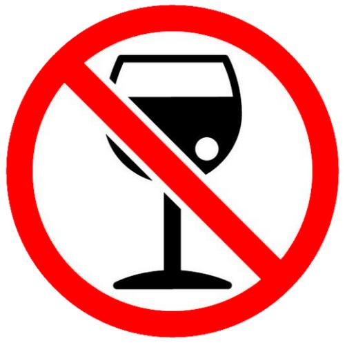 No Drink Alcohol